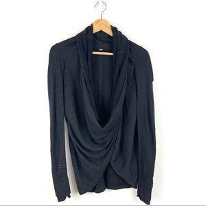 Lululemon Iconic wrap Gray Long Sleeve Sweater